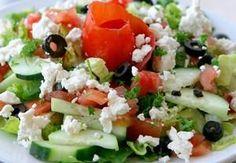 Recipe of the Week: Healthy Greek Salad Mediterranean Salad Recipe, Three Bean Salad, Olive Salad, Greek Salad Recipes, Feta Salad, Fruit Salad, Cucumber Salad, Cooking Recipes, Healthy Recipes