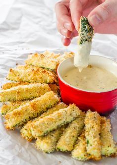 Baked Parmesan Zucchini Sticks - delicious breaded zucchini sticks at only 78 calories a serving.