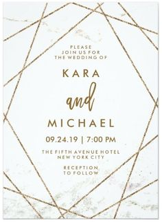 Faux Marble and Copper Geometric https://www.loveandlavender.com/top-10/gold-foil-wedding-invitations/
