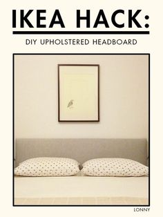 This IKEA headboard hack is EVERYTHING. Get the tutorial inside. Ikea Headboard, Custom Headboard, Headboard Ideas, Pine Bed Frame, Bed Frames, Diy Outdoor Toys, Homemade Headboards, Pine Beds, By Any Means Necessary