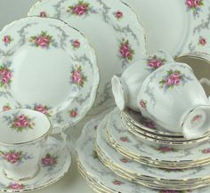For Royal Albert China Set Tranquility Pattern