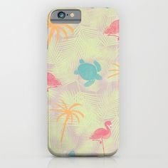Tropical pattern phone case from Sunshine Inspired Designs available at Society6.
