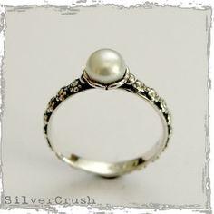 Pearl, silver