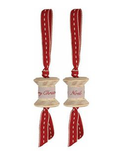 Hanging Festive Cotton Reels