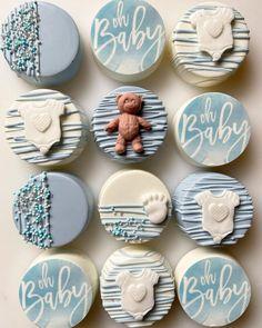 Baby Shower Treats, Baby Shower Desserts, Baby Shower Cookies, Chocolate Covered Treats, Chocolate Dipped, Dipped Oreos, Cupcakes, Cupcake Cakes, Chocolate Hearts