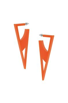 Central Saint Martins Triangle Cut-Out Earrings