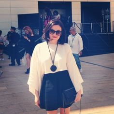 Juliet of RJBIJOUX street style Lincoln Center NY for MBFW New York S/S 2014