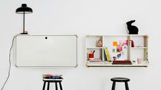 Tiny-Ass Apartment: Above the fold: 10 wall-mounted folding desks