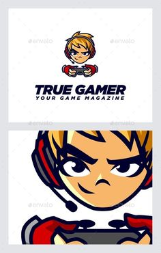 Gamers Logo Template — Vector EPS #audio #gamers • Available here → https://graphicriver.net/item/gamers-logo-template/10356383?ref=pxcr