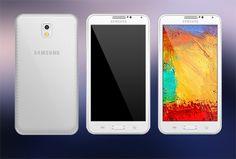 Ücretsiz Samsung Note 3 PSD mockup