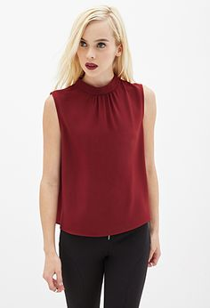 Textured High-Neck Blouse   FOREVER21 - 2000123105
