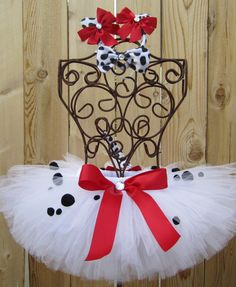 DALMATION DOGGIE Costume Tutu Set, Includes Tutu, Bow Tie, Ears on Headband and Tail - Sizes - Newborn to 5T. $39.00, via Etsy.