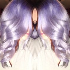 Lighten with bleach and olaplex to level Tone with wella Dry. Then mix 2 tubes Pravana vivids clear, 2 tubes Pravana mystical mint, drops Pravana violet, drops Pravana wild orchid. Funky Hair Colors, Hair Color And Cut, Pastel Hair, Purple Hair, Purple Lilac, Fancy Hairstyles, Hairstyle Ideas, Wacky Hair, Lavender Hair