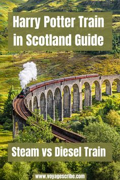 The Harry Potter train in Scotland is a dream for most Potterheads. My biggest bucketlist dream was to ride the Jacobite steam train over the iconic Glenfinnan Viaduct. That didn't work out for me, but I found (possibly better) alternative to seeing Harry Potter film locations by train: the ScotRail diesel train. In this guide, I give tips about the Harry Potter train journey and help you decide which is better for you: the steam or diesel train! Europe Travel Tips, Places To Travel, Travel Destinations, Travel Things, European Travel, Travel Guides, Diesel, Train Journey, By Train