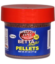 Betta Buffet Pellet | OmegaSea® The fresh seafood ingredients in Omega One foods are particularly attractive to bettas, since they thrive on a higher protein diet.  Made with delicious wild salmon and fewer starches and fillers, our Betta Buffet Pellets are a nutritional must for all bettas.  Plus, the natural protein binders in these pellets are not water soluble, resulting in a much cleaner, healthier environment.