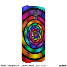 Round and Psychedelic Colorful Modern Fractal Art Galaxy S5 Case