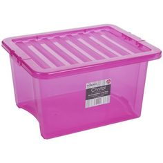 Pink 35L  Plastic Storage Box