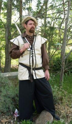 Mens Jerkin Vest renaissance medieval Tunic XL