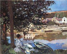 River Scene at Bennecourt - Claude Monet