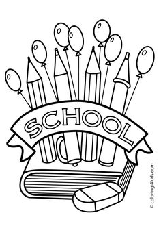 back to the school coloring page classes coloring page for kids printable free - Coloring Page Of A School