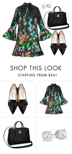 """""""In the Bloom"""" by meghanleeson on Polyvore featuring Jimmy Choo and Gucci"""