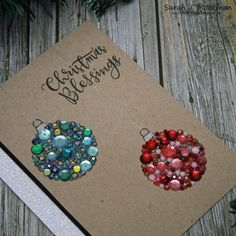 Sequin Ornaments DIY Christmas Card Simple, modern DIY Christmas card featuring sequin ornaments The dec. Christmas Card Crafts, Homemade Christmas Cards, Christmas Cards To Make, Diy Christmas Ornaments, Christmas Greetings, Homemade Cards, Handmade Christmas, Christmas Decorations, Christmas Christmas