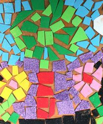 Mosaic- This one's with foam, but it could easily be done with paper.