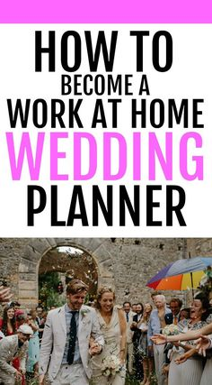 Make money part-time with this guide to becoming a wedding planner. Free wedding planner printables. It's easy to make $2000 a month working just a few days a week with this side job Start your own wedding or event planning business with these tips and tricks. Learn how to create a website, market your business and get clients. This is a great job for SAH moms or anyone looking to make extra money. This is the ultimate side hustle that can become a great career!