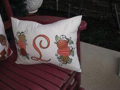 Handpainted Fall Pillows