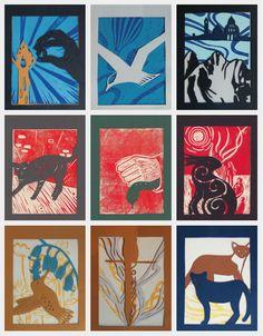 His Dark Materials inside illustrations - papercut and linoprint  Emily Rolland Design
