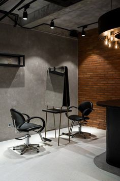 Ryoji Sakate is a minimalist hair salon located in Jakarta, Indonesia, designed by Reiichi Ikeda. Home Hair Salons, Hair Salon Interior, Salon Interior Design, Home Salon, Beauty Salon Decor, Beauty Salon Design, Hair And Beauty Salon, Hair Salon Chairs, Barbershop Design