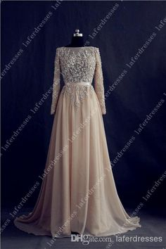 Hot Sale 2014 Evening Gowns High Neck Backless A Line Chiffon UK Prom Dresses with Long Sleeve Elie Saab Real Image Celebrity Dress 0328