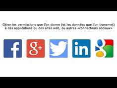 Facebook, Twitter, LinkedIn, Google+: Comment gérer les permissions des applications - YouTube Site Web, Applications, Tech Logos, Social Media Tips, Facebook, Twitter, School, Google, Gera
