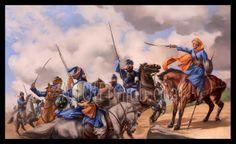 The Sikh warriors.