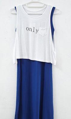 Two-piece vest dress