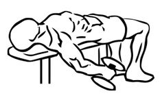 Lying Supine Biceps Curl with Dumbbell 1