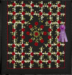 2011 Quilt Expo Quilt Contest, Honorable Mention Category 5, Machine Quilted Bed Size-Appliqued: Summer Wedding, Mary Chalmers, Willmar, Minn.