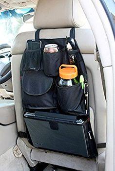YupBizauto Brand TB168 Car Auto Front or Back Seat Organizer Holder Multi-Pocket Travel Storage Bag Black Color