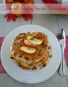 If you are looking for a deliciously indulgent pancake that screams fall look no further than this decadent Southern recipe for Caramel Apple Pecan Pancakes. Made with Gala apples, a homemade pancake batter, and creamy caramel sauce this recipe hits all the right notes and its husband and family approved. via @themccallumssha