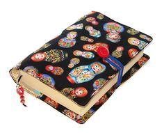 Book Cover, in Babushka Matryoshka Dolls Fabric: Amazon.co.uk: Handmade