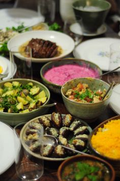 A Persian inspired dinner party feast of dreams in Brooklyn! | posted by Fig & Quince (Iranian food blog)