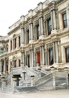 Ciagan Palace facade. Istanbul, TURKEY.