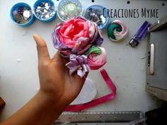 Bandita para bebe/Hairbows for baby/tiaras/manualidades/creaciones - YouTube