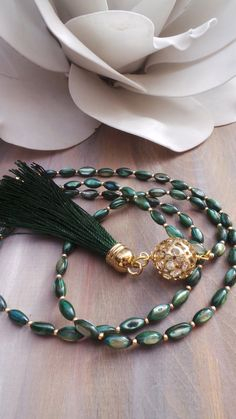 Long beaded tassel necklace. Long beaded by AllAboutEveCreations