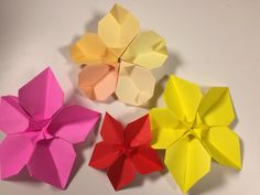 花折り紙 桃の花