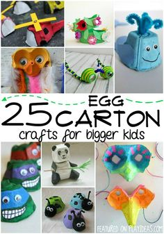25 Egg Carton Crafts for Bigger Kids