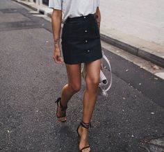 Mini skirts like this are so easy to pair with anything and look styled! Shop similar pieces on Effinshop.com xx