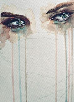 Illustration Sad It's okay to cry. If you hold it in and pretend to be fine, the hurt will come out (explode) later when you least expect it! Illustration Sad Source : It's okay Art Amour, Art Africain, Pen And Watercolor, Tattoo Watercolor, Watercolor Paintings, Wow Art, Oeuvre D'art, Art Inspo, Painting & Drawing