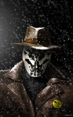 Merry Christmas Mr.Rorschach by KuldarLeement - Geek Art. Follow... #comics #art