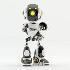 oculus robot with three yellow led eyes